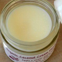 VEGAN Organic Deodorant Coconut Cream no GMOs all natural aluminum free Organic Coconut Cream, Anti Aging, All Natural Deodorant, Homemade Beauty Products, Vegan, Organic Beauty, Aluminium, Bunt, Natural Health