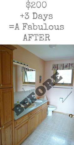 Budget-Friendly Bathroom Makeover budget friendly home decor #homedecor #decor #diy