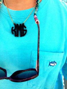 Preppy and a monogram. for the summer