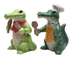 StealStreet SS-CG-20736 3.75' Painted Alligator Cooking Chef Salt and Pepper Shakers ** New and awesome product awaits you, Read it now  : Salt Pepper Shaker