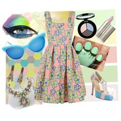 pastel design seed by diaparsons on Polyvore featuring Minna Parikka, Coppola e Toppo, Wildfox, Smashbox, claire's, outfit, pastel, contestentry and fashionset