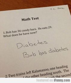 Bob Has 36 Candy Bars...funny, but sad and true at the same time