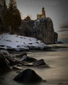 Perspective.  When you're sitting on a snow and ice covered shoreline at 7 am, freezing your buns off, for the love of capturing something that is so uniquely your own way of looking at the world. Split Rock Lighthouse. 1.1.17 Photo by Sak Photography,