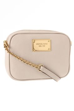 Off white and gold Michael Kors crossbody bag.