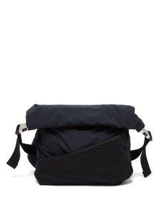 Bottega Veneta - Mesh And Technical-fabric Cross-body Bag - Mens - Black Computer Backpack, Mesh Panel, Black Cross Body Bag, Friends In Love, Bottega Veneta, Shopping Bag, Crossbody Bag, Sporty, Fabric