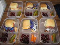 Pack lunches on Sunday for the whole week! Wrap sandwiches with a moist paper towel to prevent the bread from drying out. See 170 more ideas for packing kid lunches.  This will come in handy when they start school.