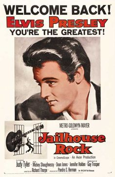 Elvis Presley Poster – Movie Promo Flyer – 11 X 17 – Jailhouse Rock – BW « Zyguu Old Movie Posters, Classic Movie Posters, Concert Posters, Classic Movies, Vintage Posters, Classic Songs, Cinema Posters, Elvis Presley Posters, Elvis Presley Movies