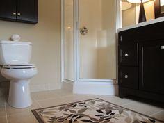 Corner Shower - Cabinets over toilet