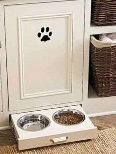 Doggy door and drawer