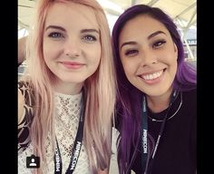 Ihascupquake and Ldshadowlady at minecon <3