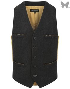 Holland Esquire Donegal Classic 5 Button Waist Coat - Brown - Men's Tweed / Wool Jackets - Men's Jackets and Coats - Men | Country Attire