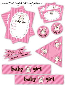 Baby Shower ~ Girl ~ Decorations ~ Free Printable Collection (en Español - click the image and save to your computer)