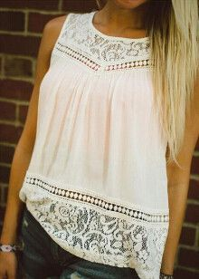 Boho crochet lace top