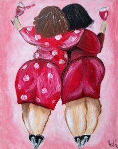 Plus Size Art, Happy Paintings, Whimsical Art, Funny Art, Love Art, Female Art, Art Girl, Painting & Drawing, Watercolor Art