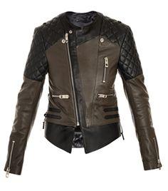 Quilted Shoulder Biker Jacket by Balenciaga #matchesfashion