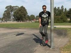 How to Ride a Unicycle : Idling on a Unicycle - YouTube