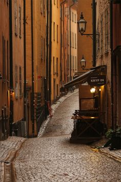 Gamla stan (The Old Town), until 1980 officially Staden mellan broarna (The Town between the Bridges), is the old town of Stockholm, Sweden. Places Around The World, Travel Around The World, The Places Youll Go, Places To See, Around The Worlds, Stavanger, Trondheim, Voyage Suede, Magic Places