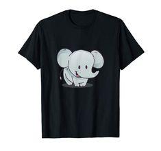 Little Elephant Cartoon Kids T-Shirt