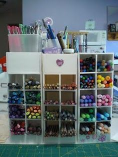 copic marker storage towers, instructions included. made out of foam board from $ store.