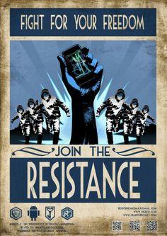 001 iOS wallpaper for Ingress Resistance Ingress