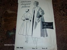 VTG Sewing Pattern - AMERICAN DESIGNER PATTERN - VERA MAXWELL - Size 14 Bust 32
