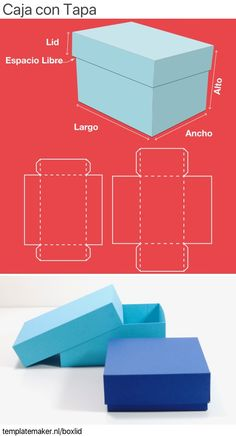 Box with lid ✂︎ templatemaker.nl Box with lid ✂︎ templatemaker. Diy Gift Box Template, Paper Box Template, Box Templates, Box Template Printable, Origami Templates, Gift Boxes With Lids, Diy Box, Diy Paper Box, Paper Boxes