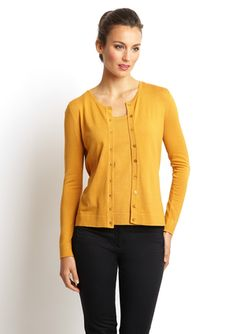 august silk Silk Knit Basic Cardigan