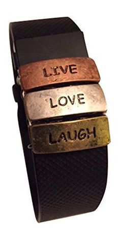 Fitband Fun Live Love Laugh Fitness Band Accessory for Fitbit Charge Charge HR Charge 2 Garmin Vivofit Vivofit 3 Vivosmart HR -- Learn more by visiting the image link.