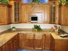 Perfect traditional details of the Spiced Maple RTA Kitchen Cabinets