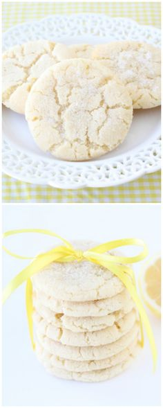 Lemon Sugar Cookies on twopeasandtheirpod.com The BEST sugar cookies and perfect for Easter!