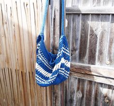 Hand Knit Family Size Beach Bag Tote by Yarnettes on Etsy, $20.00