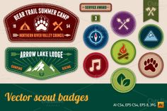 Check out Scout badges by Ember Studio on Creative Market