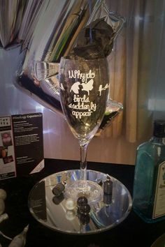 We can personalise all glassware to create a truly bespoke Base for your balloon bouquets vipballoons.co.uk