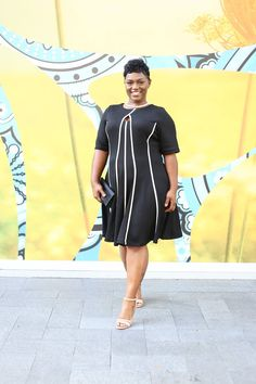 Step up your work style with this gorgeous and versatile Julian Taylor dress. Great to wear to work and after hours with friends. #dressupmonday #sleektrendsonline #plussize #plussizefashion #fashion #ootd #houston #weartowork #littleblackdress #mondaymood Get it here ➡ http://ow.ly/H6wa3050Svr