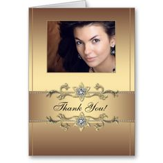 Shop Elegant Gold Photo Thank You Cards created by The_Thank_You_Store.