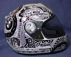 Cool motorbike helmet designs using a Sharpie pen   Cool Cars and Bikes