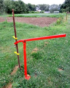 """If you have to pull """"T""""posts do yourself a favor and invest in a post puller or post jack"""