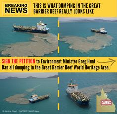 GBR anti dredge spoil dumping campaign - Fight for the reef