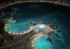 Proposed Doha Port Stadium for the 2022 Qatar World Cup