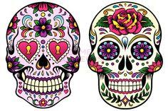 Maquillaje de calavera mexicana para Halloween 2013 | Cien por ...