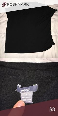 Black Crop Top super soft material. good condition. make me an offer! aerie Tops Crop Tops