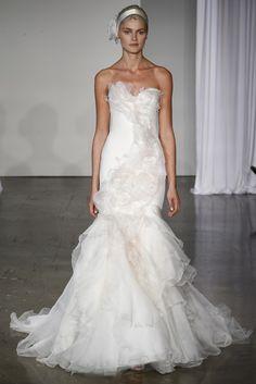 Fall 2013 wedding dress Marchesa bridal gowns 1  Mermaid Flowing ruffles
