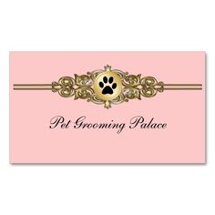 Elegant Pet Grooming Business Cards. I love this design! It is available for customization or ready to buy as is. All you need is to add your business info to this template then place the order. It will ship within 24 hours. Just click the image to make your own!