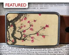 Cherry Blossoms Belt Buckle - cherry blossom