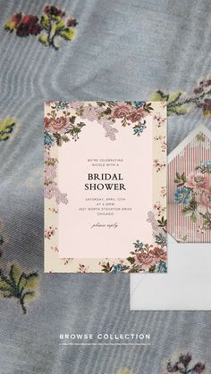Cut from the same cloth. Brock Collection x Paperless Post invitations feature the same romantic prints and patterns as you'll see come down the runway each season. They're perfect for a bridal shower, wedding invitation, or even a baby shower. Watercolor Lettering, Watercolour, Floral Fabric, Bridal Shower Invitations, Illustrations Posters, Invitation Cards, Rsvp, Print Patterns, Stationery
