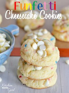 Funfetti Cheesecake Cookies – Kitchen Meets Girl : Taste The Pins