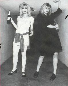 Courtney Love and Caroline Rue 1991