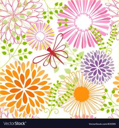 Vector image of Seamless flower butterfly Vector Image, includes background, wallpaper, pattern, seamless & flower. Illustrator (.ai), EPS, PDF and JPG image formats.