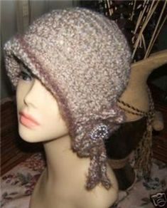 """Hi, up for your consideration is my all time favorite crochet cloche flapper hat pattern. You are going to love this pattern, you can work it up in just a few hours.Finished size will fit approx. 21-23"""""""