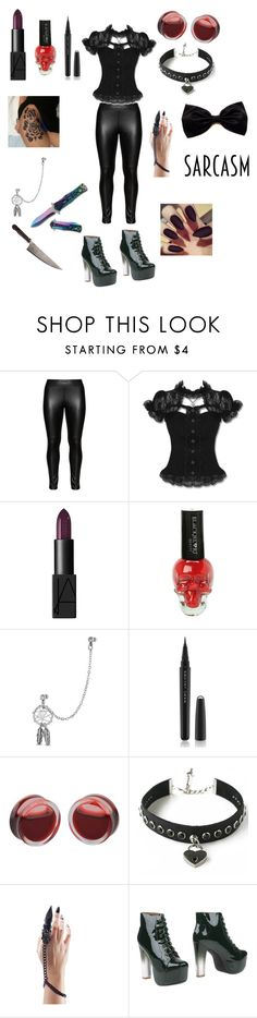 """""""Untitled #118"""" by jenniferhdz ❤ liked on Polyvore featuring Studio, Hell Bunny, NARS Cosmetics, Bling Jewelry, Marc Jacobs and Jeffrey Campbell"""